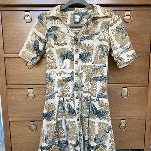 Corduroy Printed Dress